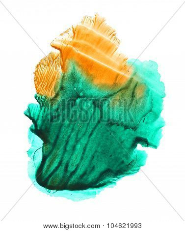 Abstract orange and green background.
