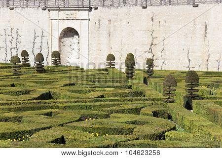 Gardens Of The Castle Of Villandry, Indre-et-loire, France