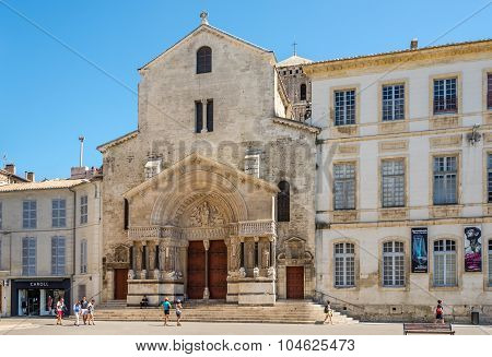 View At The Church St.trophime Of Arles