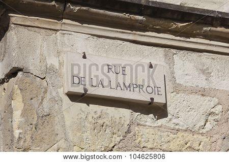 Rue de la Lamproie in Tours Indre-et-Loire France poster