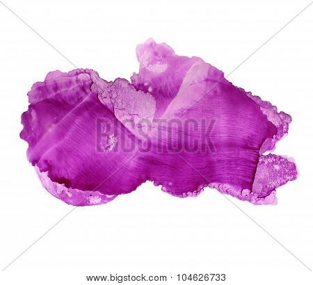 Abstract lilac watercolor background. Ink illustration.
