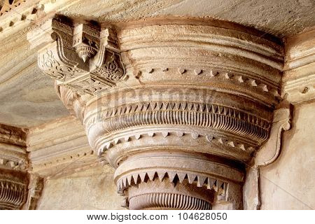 Pillar Top At Gwalior Fort