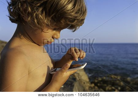 Boy With a Smart Phone