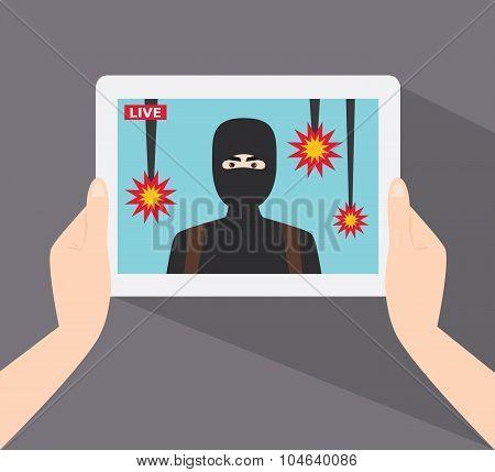 Terrorist Show In Live News