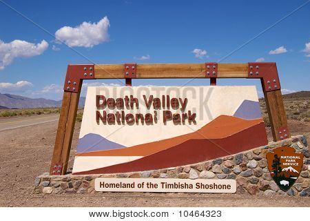 Entrance sign to Death Valley National Park poster