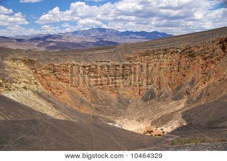 The Ubehebe Crater, the largest crater in Death Valley National Park, 2400 feet in diameter and 500 feet deep. poster