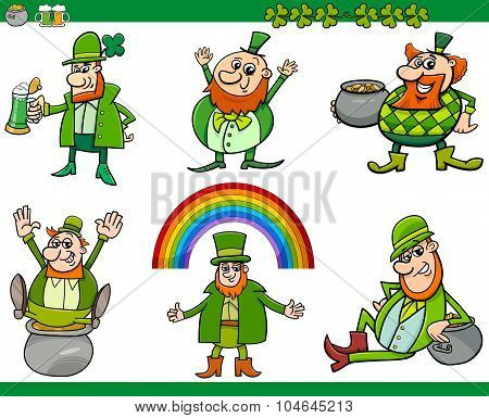 Saint Patrick Day Cartoon Set