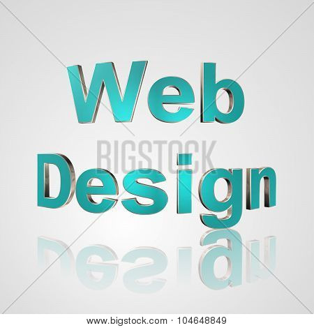 3D Text Web Design