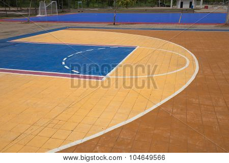 Free Throw Lines Of The Public Basketball Court