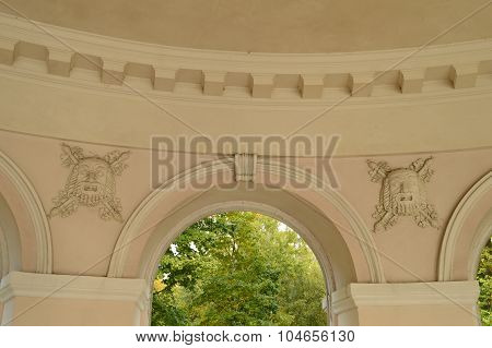 The Elements Of Architectural Decoration Of The Old Outdoor Park Pavilion