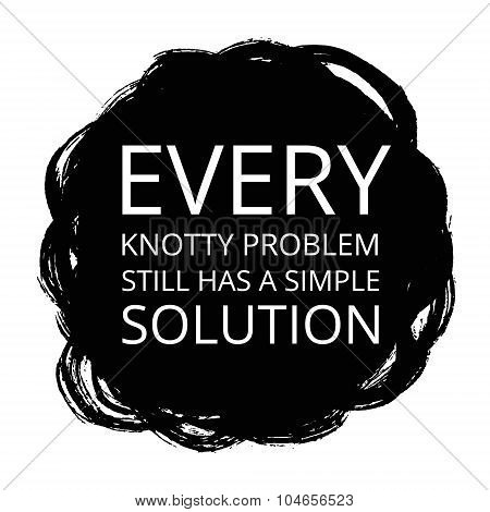 Vector Motivational Poster on Black