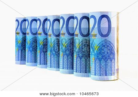 20 Euro Currency Banknotes