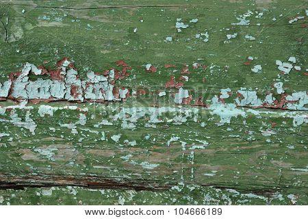 Shabby Weathered Green Wood Background