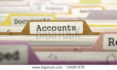 File Folder Labeled as Accounts.