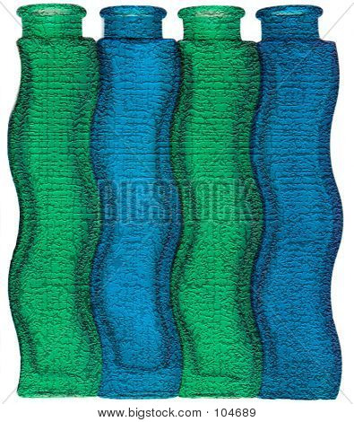 Textured Glass Bottles