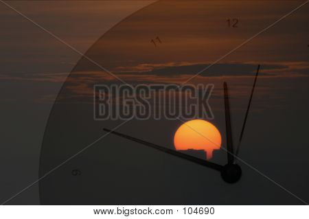 Sunrise And Clock