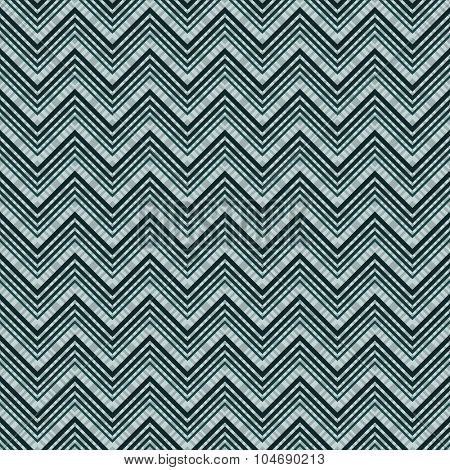 Seamless blue grey zig zag lines vector pattern. poster