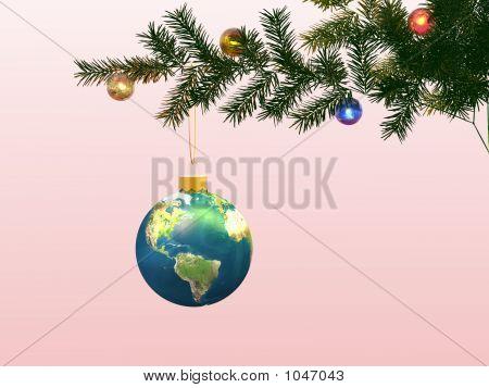 Globe On A Christmas-Tree.
