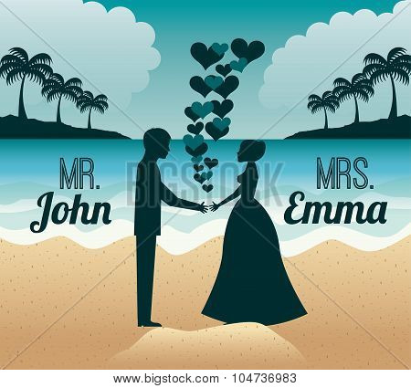 marriage vacations design, vector illustration eps10 graphic poster