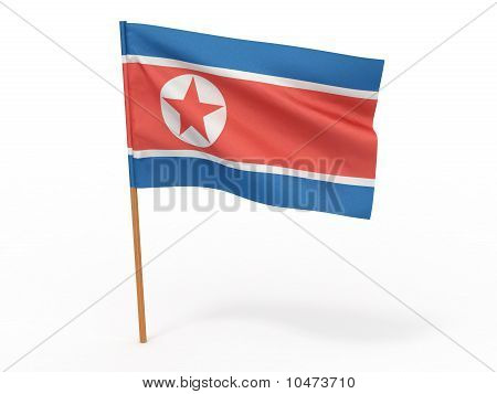 Flag Of Northern Korea. 3D