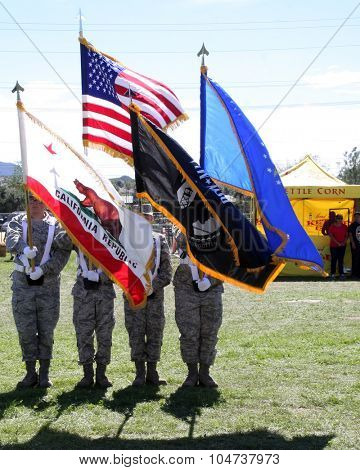 LOS ANGELES - OCT 9:  Presentation of Colors at the Celebrities Salute the Military at Corn Maze at the Big Horse Feed and Mercantile on October 9, 2015 in Temecula, CA