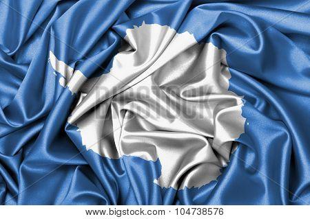 Satin Flag - Flag Of Antarctica