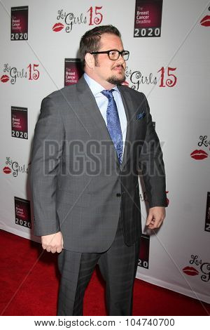 LOS ANGELES - OCT 11:  Chaz Bono at the Les Girls 15 at the Avalon Hollywood on October 11, 2015 in Los Angeles, CA