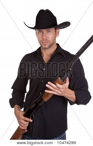 Holding Rifle Man