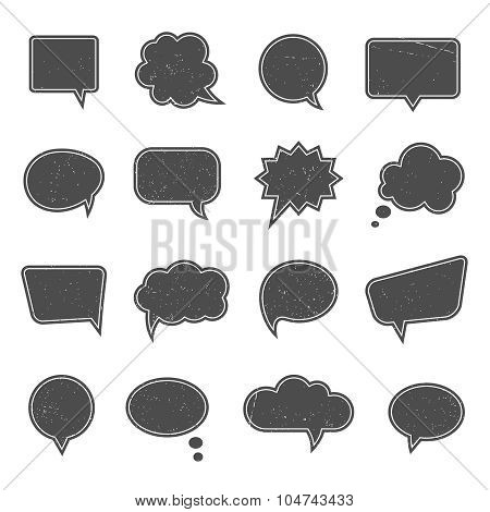 Empty speech bubbles in modern vintage style