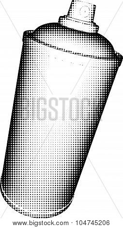 Spraycan Halftone Shading In Black And White