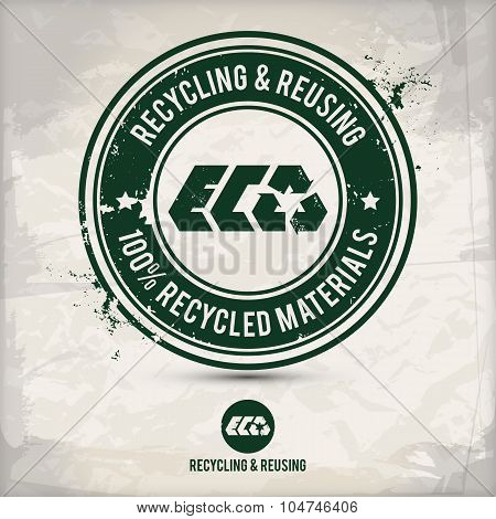 Alternative Recycling And Reusing Stamp
