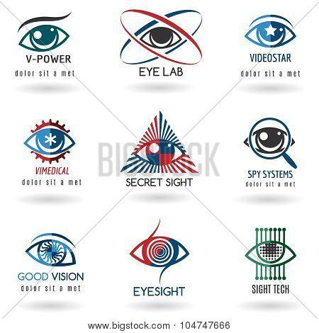 Eye logo set