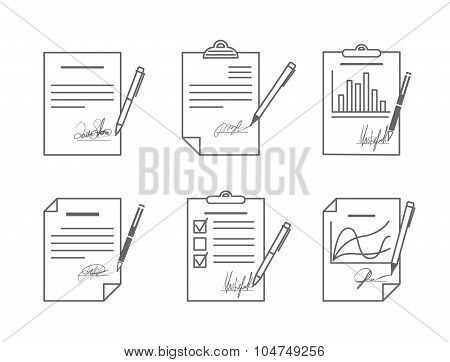 Document or contract with signature