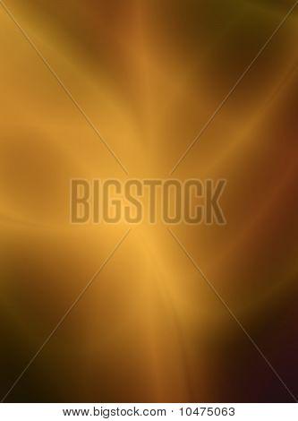 Golden light fractal design