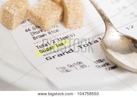 Sugar Tax Receipt With Sugar Lumps