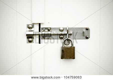 Locks On White Background