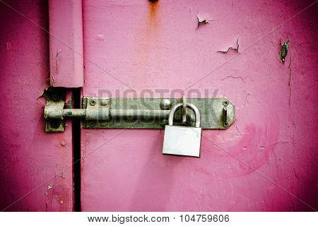 Pink Painted Wooden Door