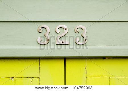 323 Metal Numbers