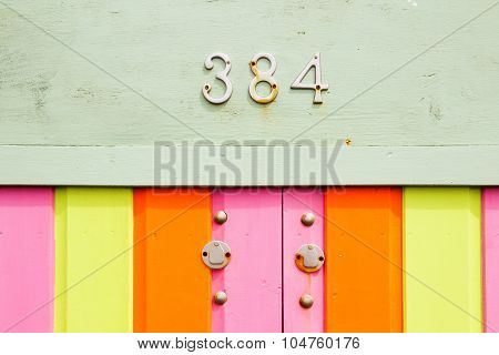 Coloured Wood, With Keyhole