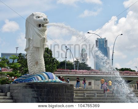 Merlion Statue at Singapore.