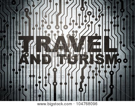 Travel concept: circuit board with Travel And Turism