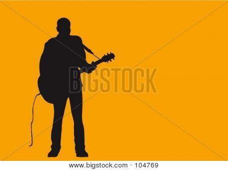 Ein Mann und seine Gitarre