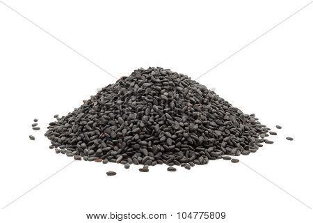 Pile of Organic Black Sesame.