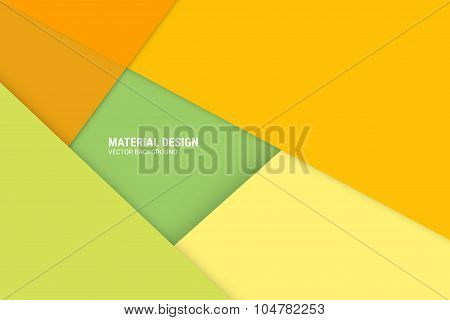 Material Disign Vector Background - Web Or Application Design Element