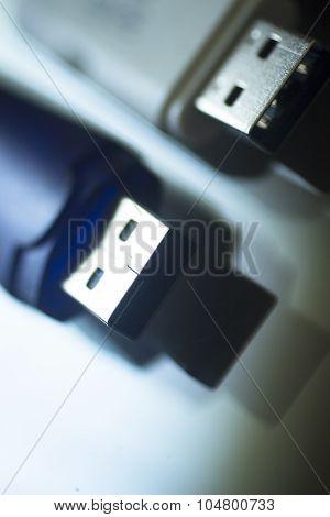 Two Usb Flash Drive Pendrives It Pc Memory Storage