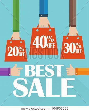 Flat design best sale, shopping bag