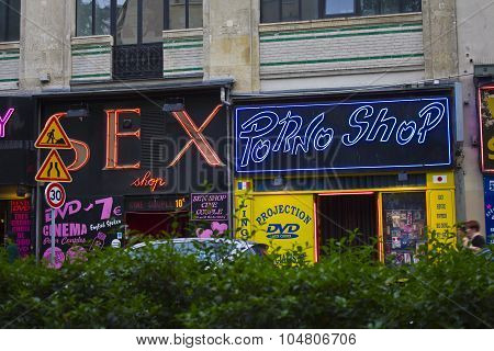Paris - Circa May 2011: Sex and Pornography Shop on Boulevard de Clichy Paris I