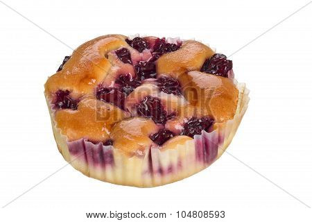 Small Cake With Cherries