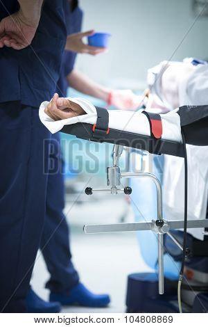 Traumatology Orthopedic Surgery Hospital Immobilized Arm