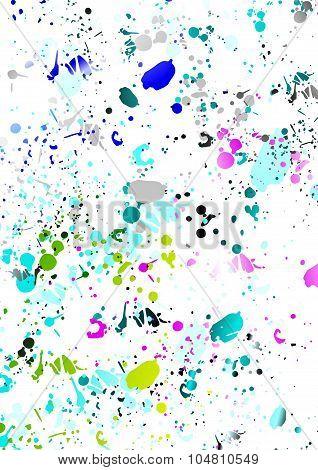 Colorful splash over white background